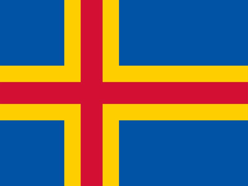 Flag of Aland Islands vector