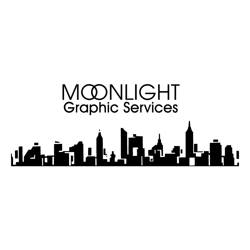 Moonlight Graphic Services vector logo