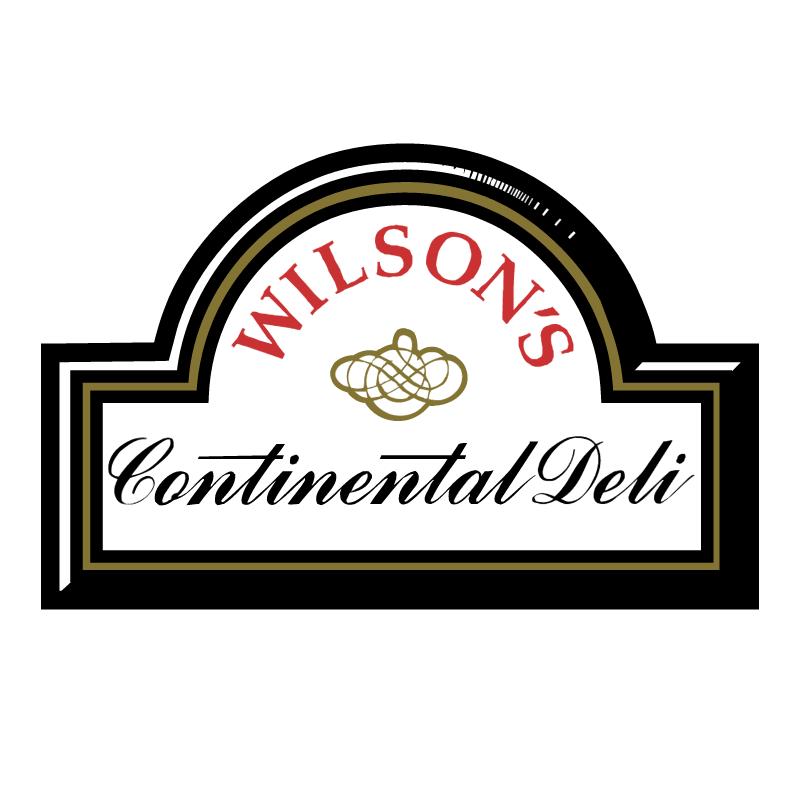 Wilson's Continental Deli vector logo