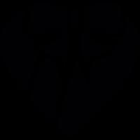 Heart shape Box with a ribbon vector