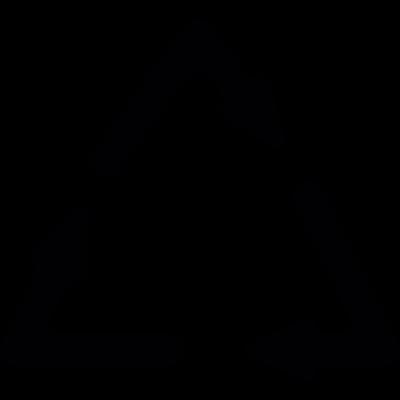 Recycle symbol with three arrows vector logo