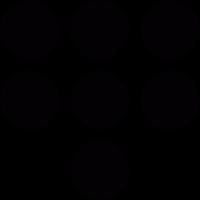 Seven dots vector