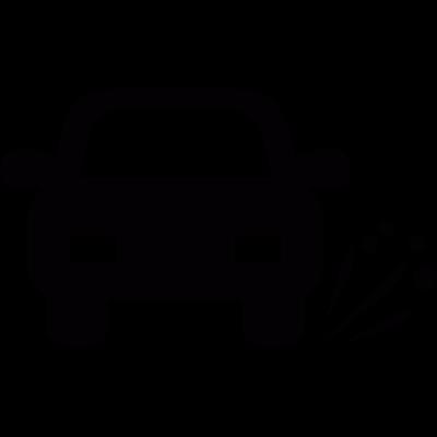 Car tire blowout vector logo