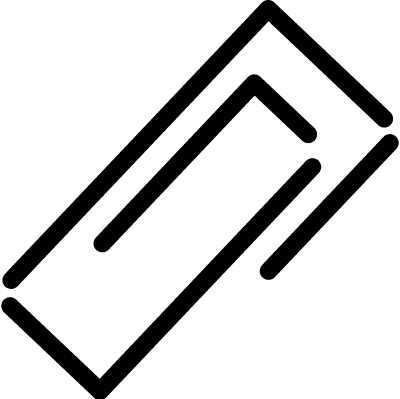 Squared paper clip vector logo