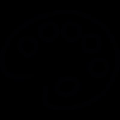 Painting palette vector logo