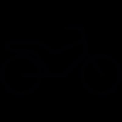 Stylized bicycle vector logo
