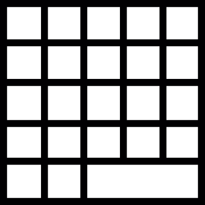 Table, grid, IOS 7 interface symbol vector logo