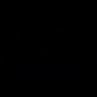 Cloud with add symbol, IOS 7 interface symbol vector logo