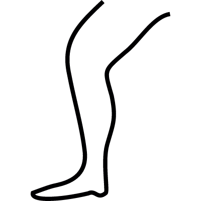 Leg outline, IOS 7 interface symbol vector logo
