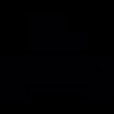 Computer printer silhouette vector logo