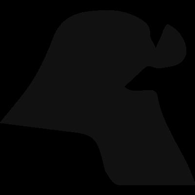 Kuwait black country map shape vector logo