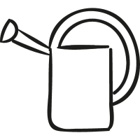 Gardening Watering Can vector