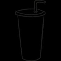 Cardboard cup doodle vector