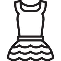 Dress withot Sleeves vector