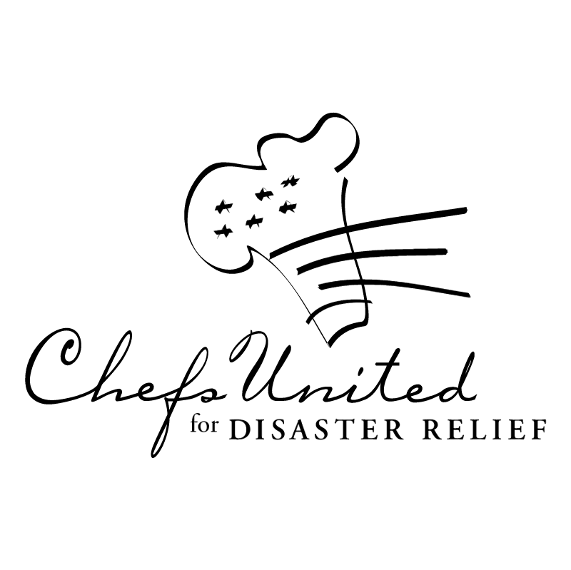 Chefs United for Disaster Relief vector