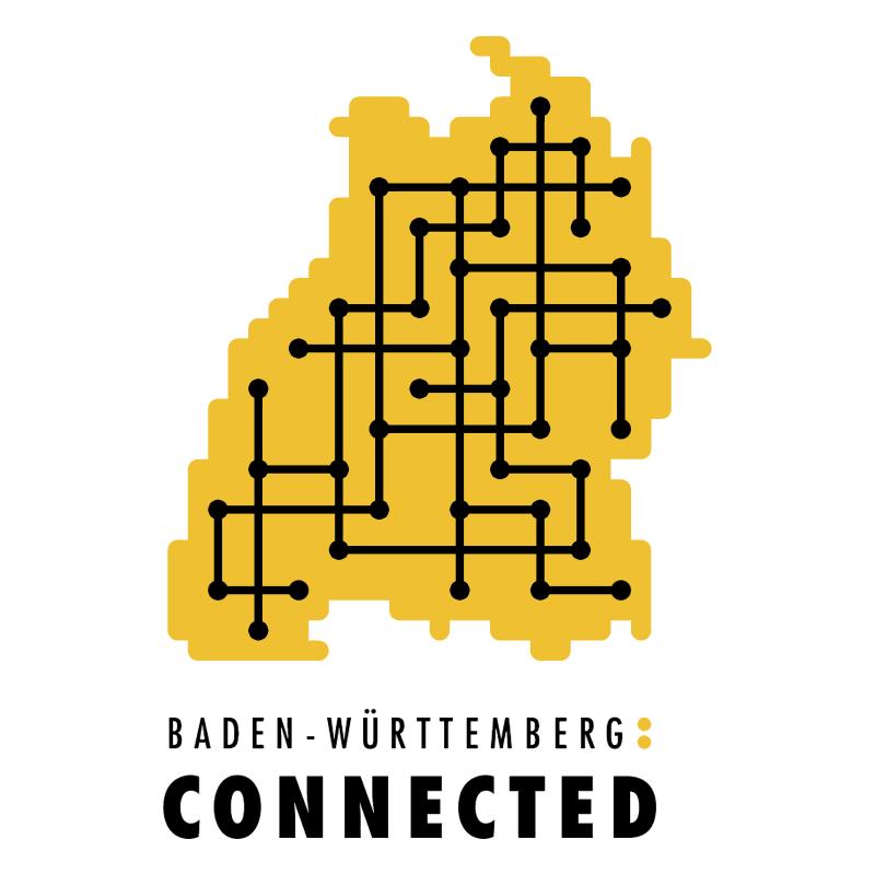 Connected vector logo