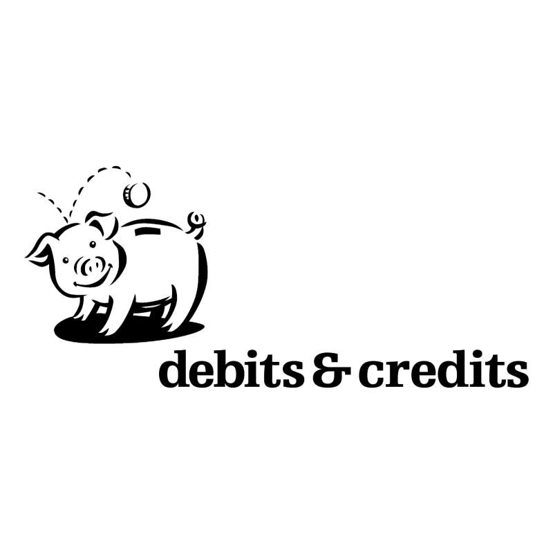 Debits & Credits vector