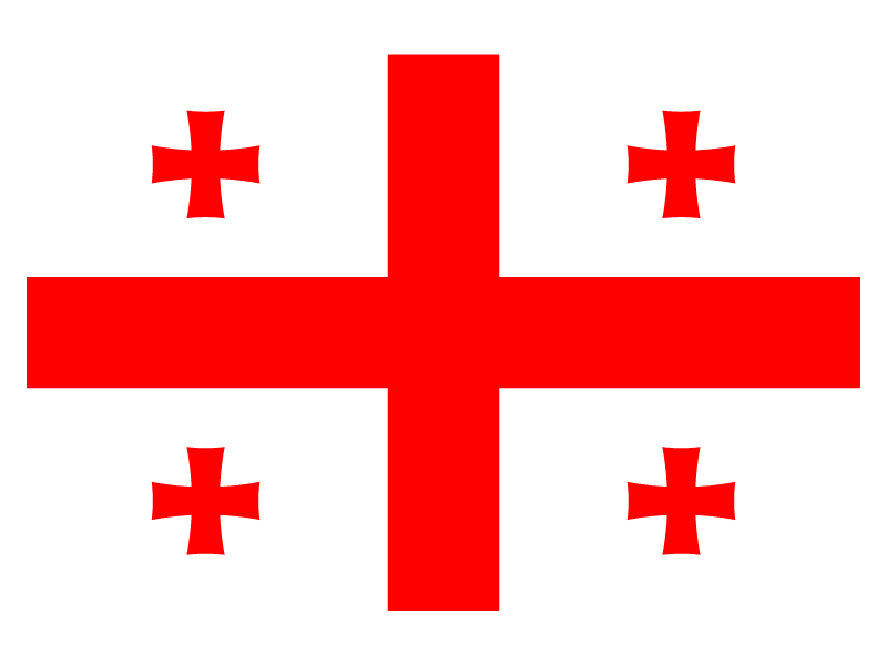 Flag of Georgia vector logo