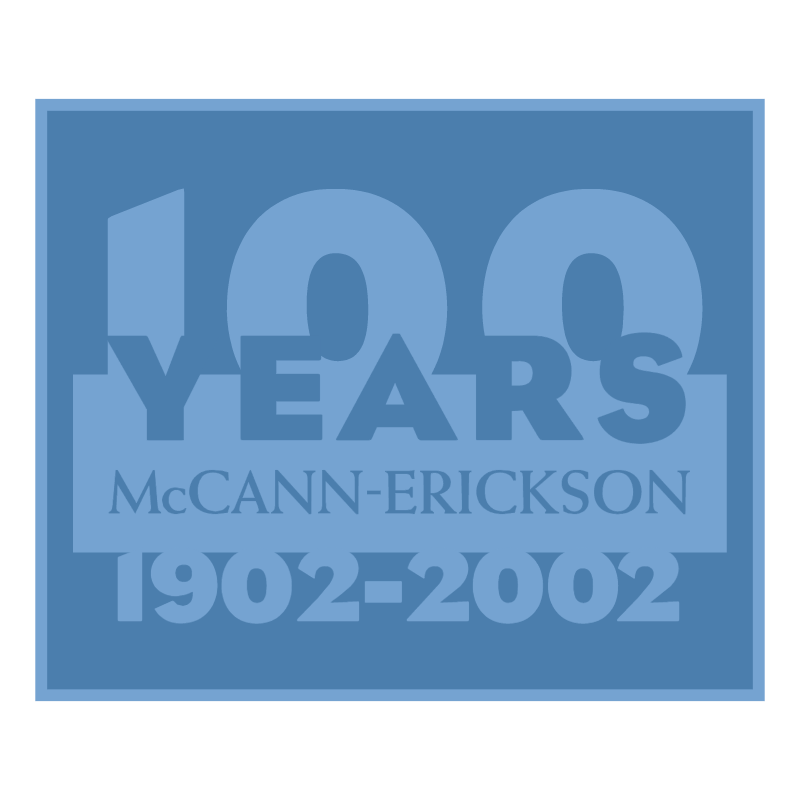 McCann Erickson 100 Years vector