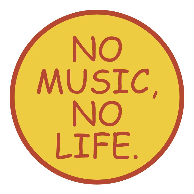 No Music No Life vector