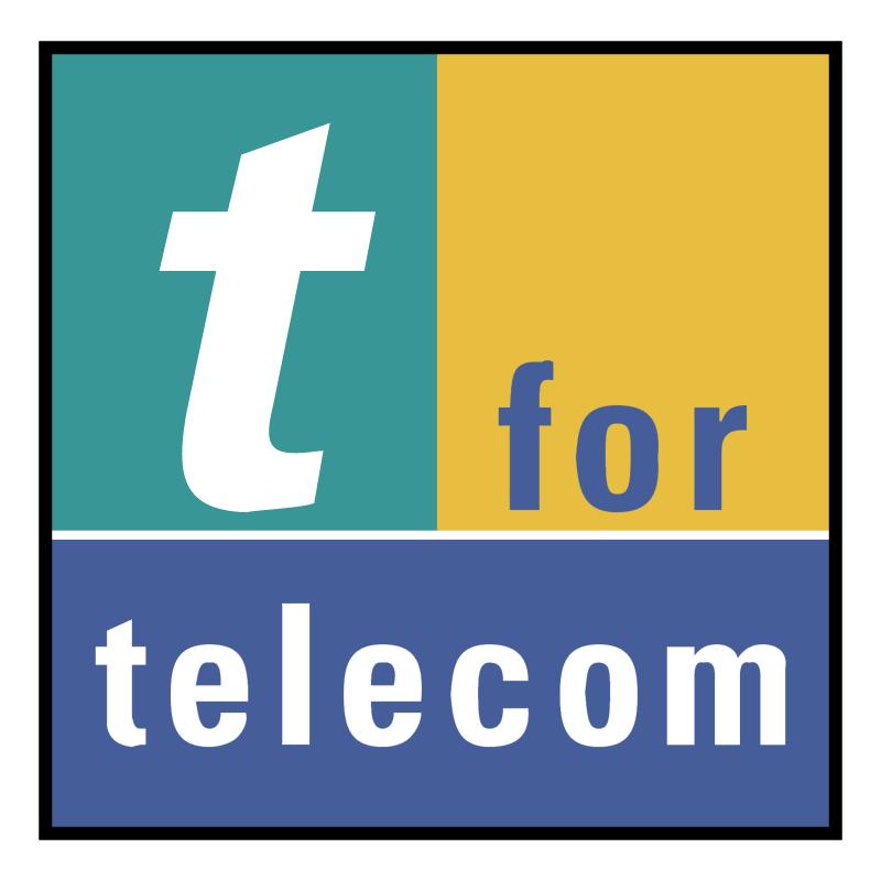 t for telecom vector logo
