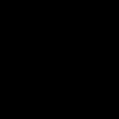 Swords crossed vector logo