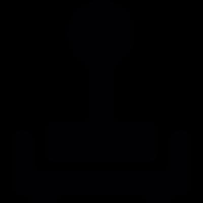 Stamp tool vector logo