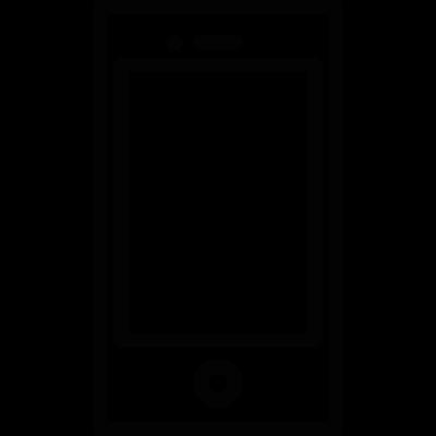 Rectangular shape smartphone vector logo