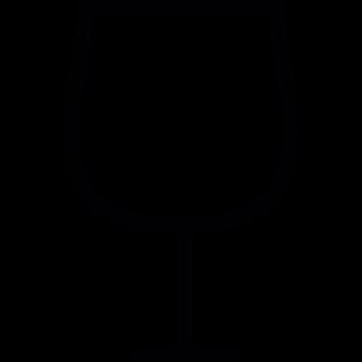 Wine glass shape, IOS 7 symbol vector logo
