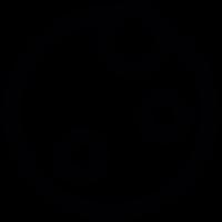 Full moon outline vector