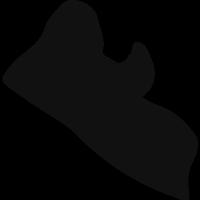 Liberia black country map shape vector