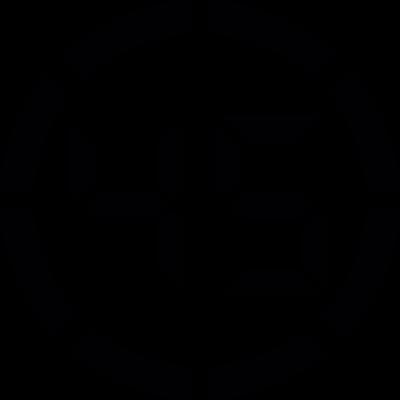 Digital number 45 vector logo