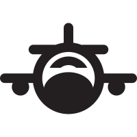 Fronal plane with small wings vector