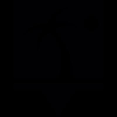 Beach Pin vector logo
