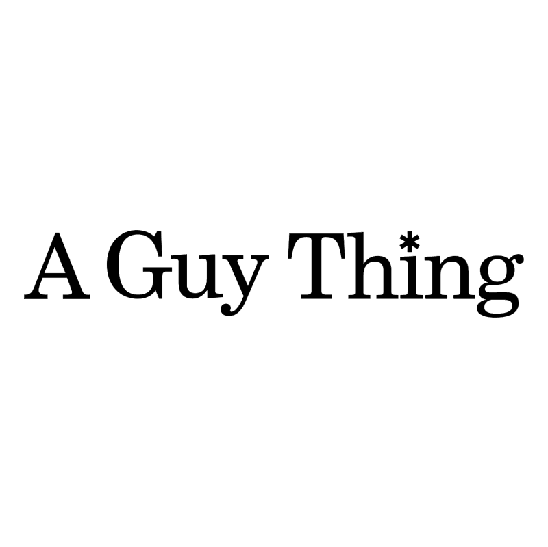 A Guy Thing vector logo