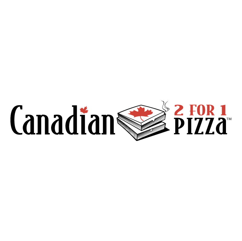 Canadian 2 for 1 Pizza vector logo