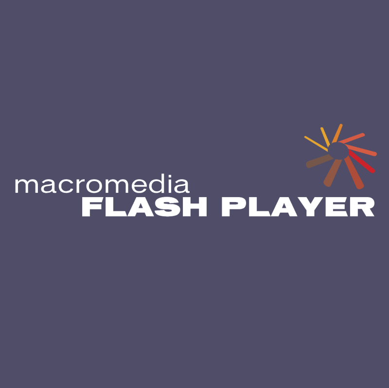 Macromedia Flash Player vector logo