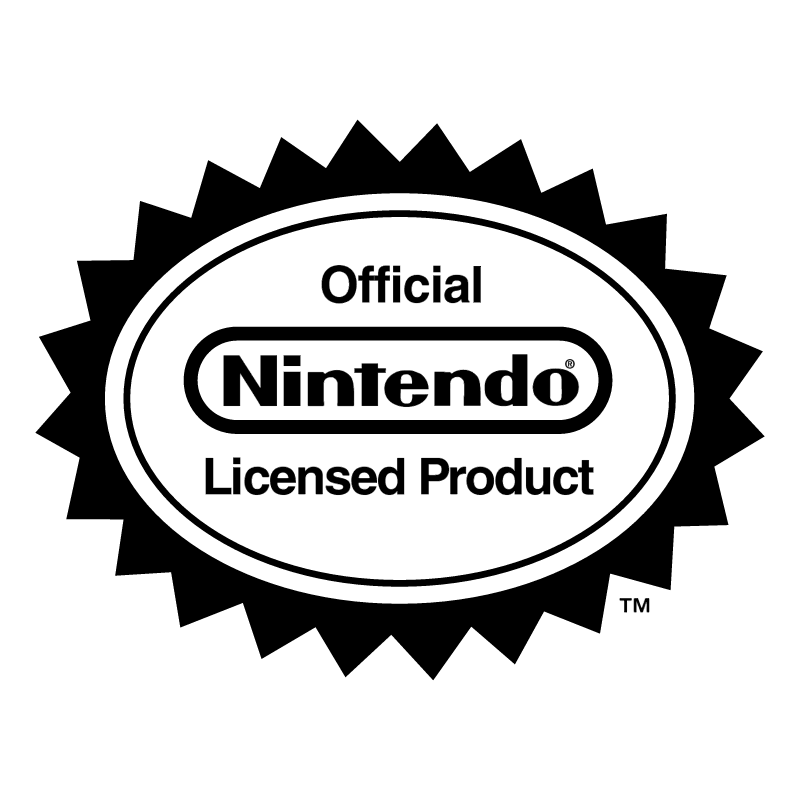Nintendo Official Licensed Product vector
