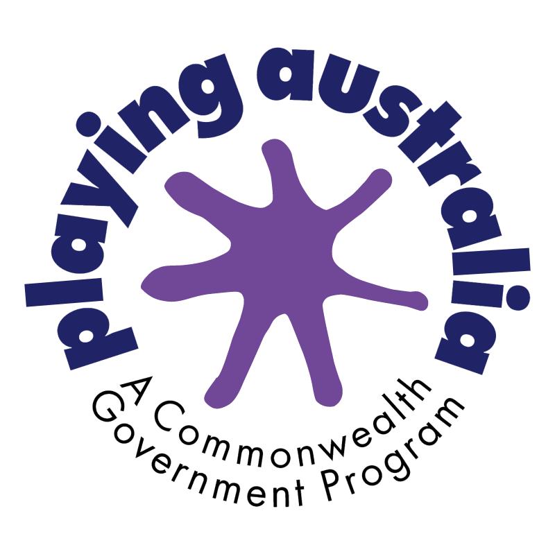 Playing Australia vector