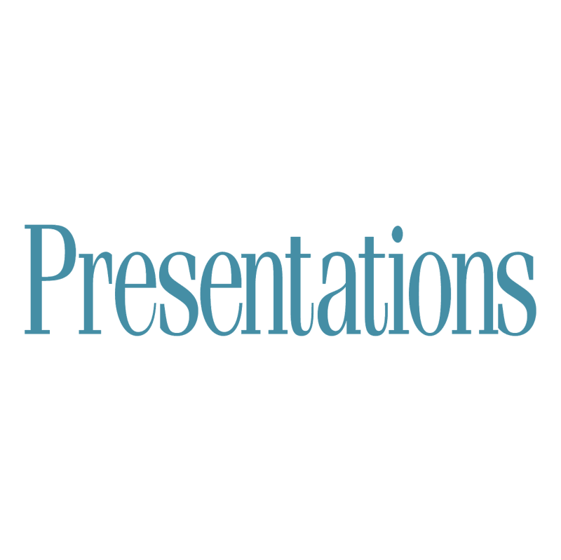 Presentations vector logo