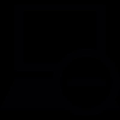 Computer remove button vector logo