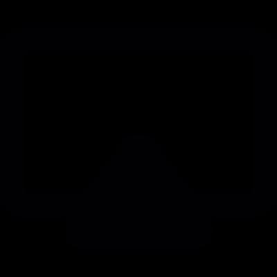 Frame back view vector logo
