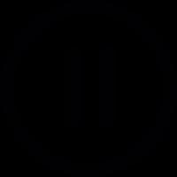 Video pause button vector