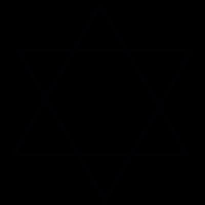 Star of David, IOS 7 interface symbol vector logo