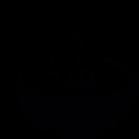 Wheat grains on a bowl vector