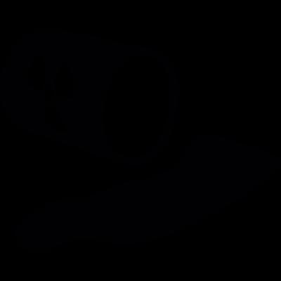 Radioactive waste vector logo