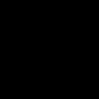 Pinterest Logo Button vector