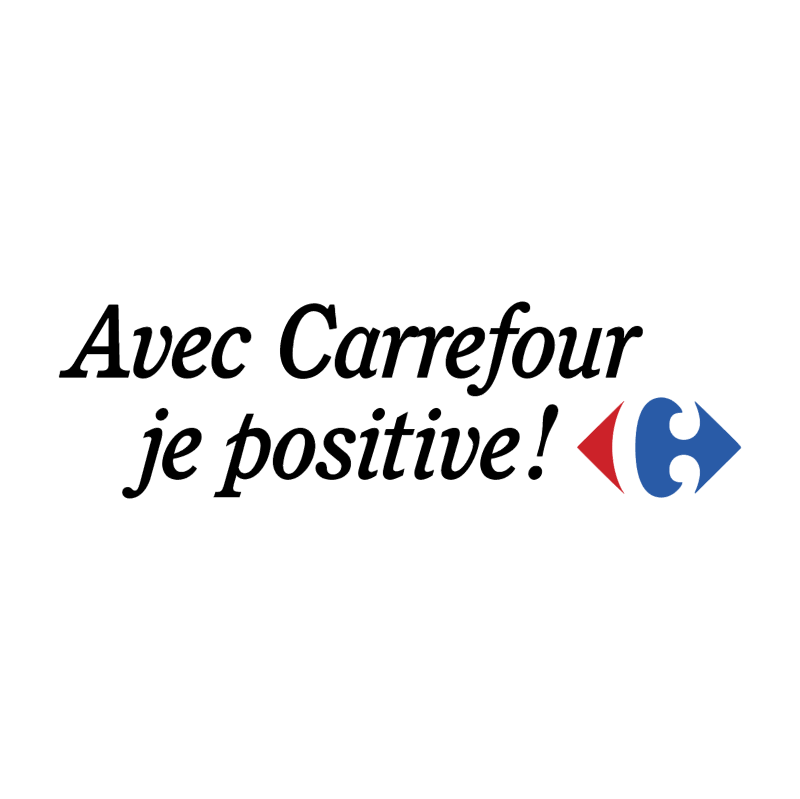Avec Carrefour je positive! 41876 vector