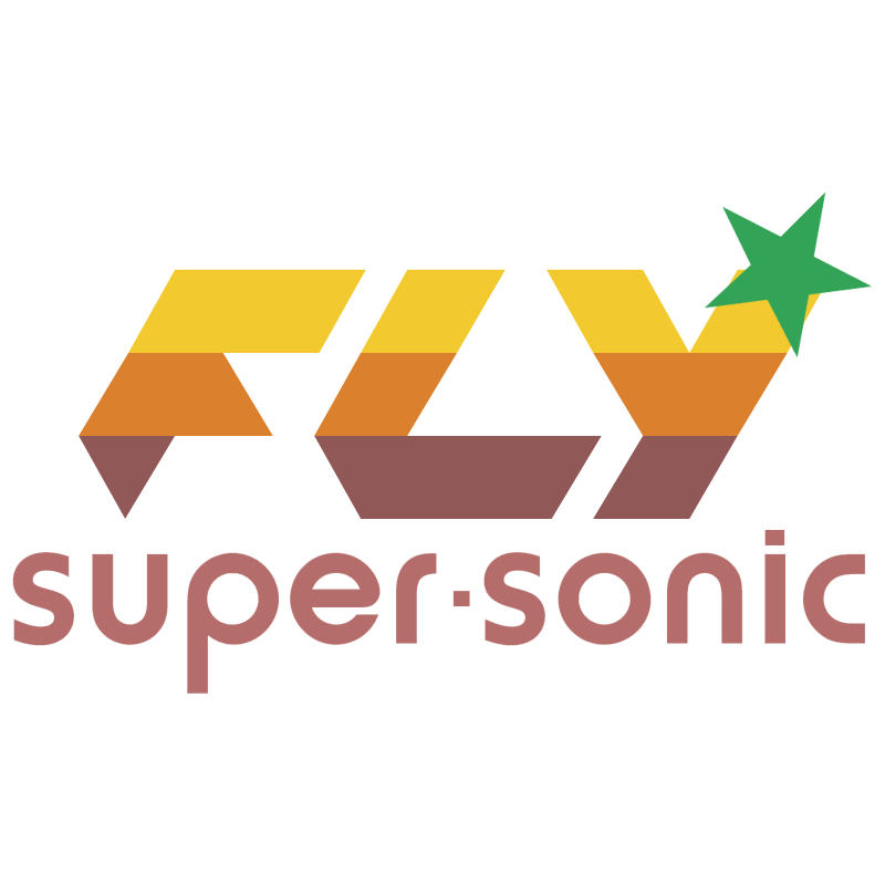 Fly Super Sonic vector