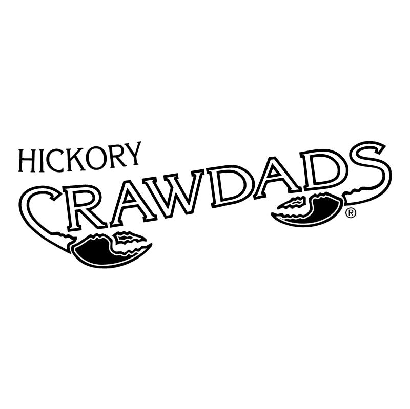 Hickory Crawdads vector logo